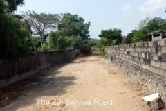 ECR Injambakkam 5 Gr Approved Plot-Service Road 2